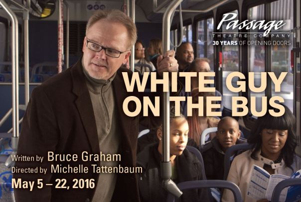 White Guy on the Bus postcard front
