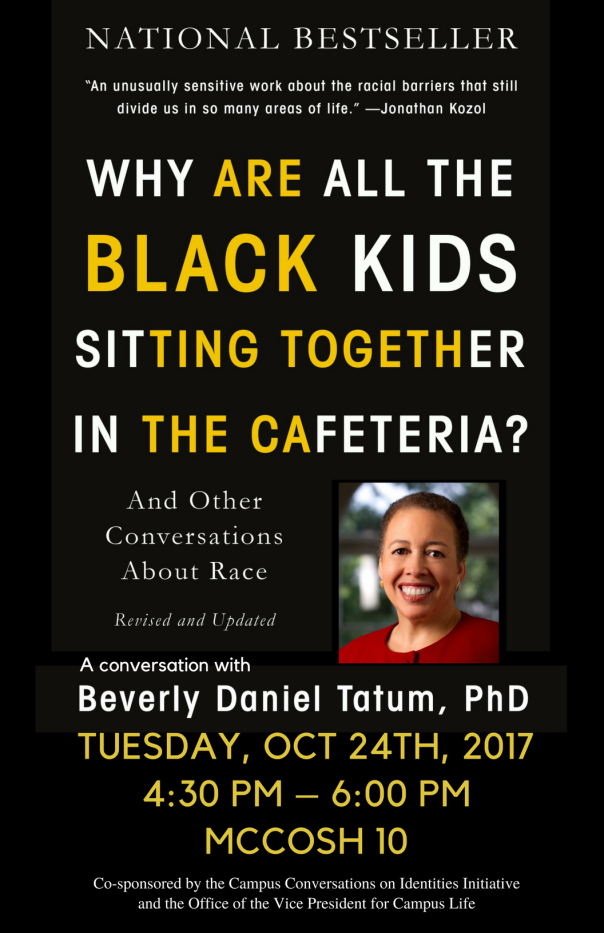 why are all the black kids sitting together Amazoncom: why are all the black kids sitting together in the cafeteria: and other conversations about race (9780465083619): beverly daniel tatum: books.
