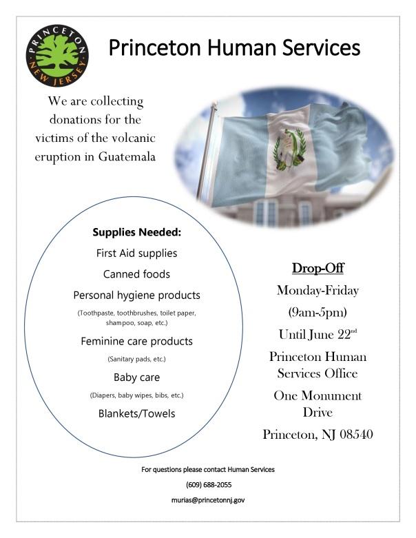 Guatemala Volcano Donation Flyer