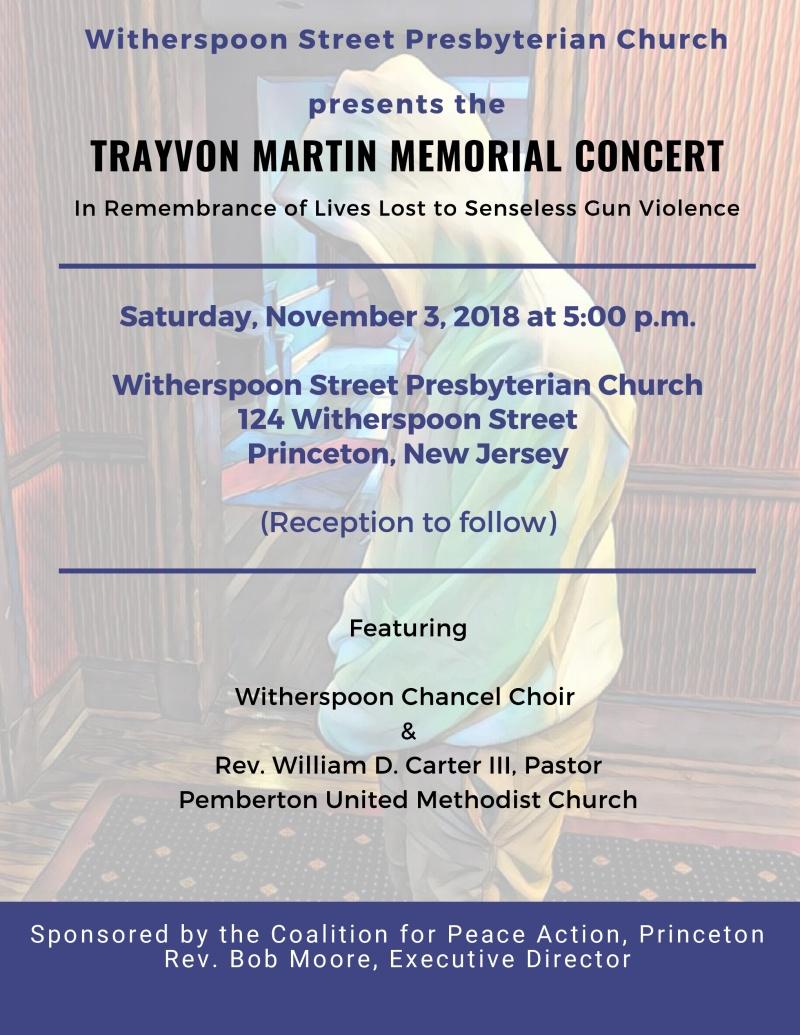 Trayvon Martin Concert Flyer