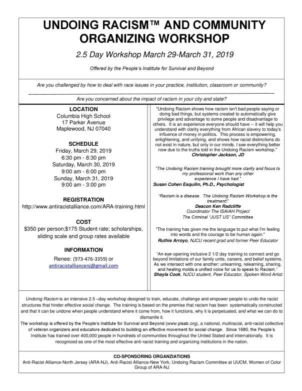 undoing racism march 2019