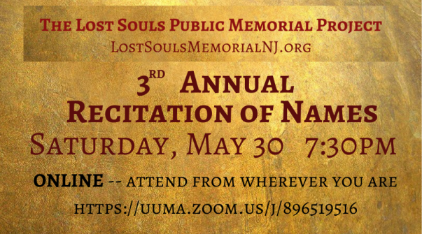Recitation of Names May 30
